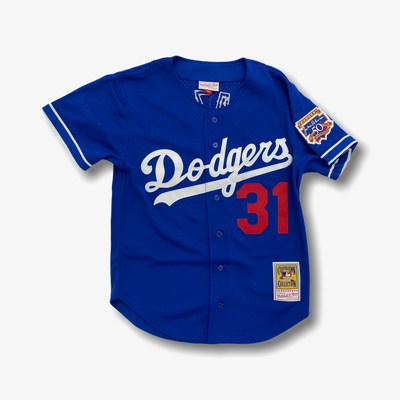 Mitchell & Ness MLB Authentic BP BF Jersey Los Angeles Dodgers Mike Piazza