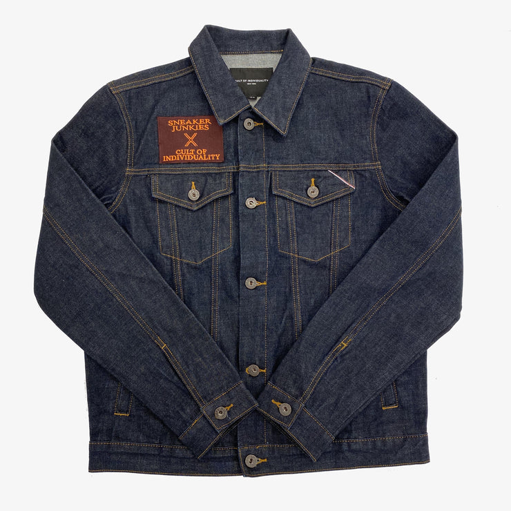 "Cult Of Individuality X Sneaker Junkies ""Kings of The North"" Denim Jacket Water Resistant Blue"