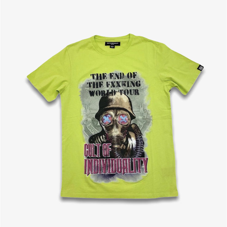 Cult of Individuality Gas Mask Short Sleeve T-shirt Safety Green