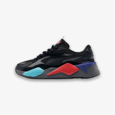 Puma RS-X3 Puzzle Jr GS Sizes Black Risk Red 372357-07