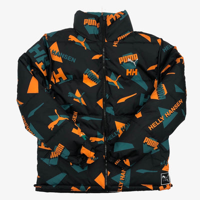 Puma x Helly Hansen Reversible Jacket Teal Green AOP Front Black