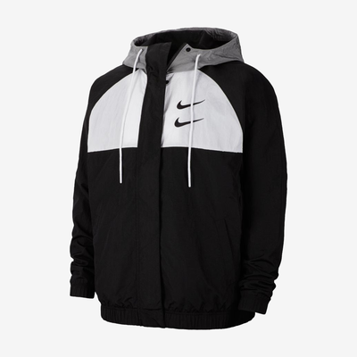Nike Sportswear Swoosh Jacket Black Particle Grey White CJ4888-011