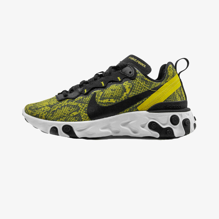 Nike Womens React Element 55 Speed Yellow Black White CT1551-700