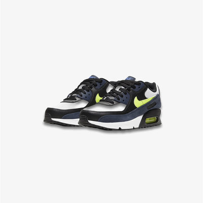 Nike Air Max 90 LTR GS Midnight Navy Volt Black Grade School Sizes CD6864-401