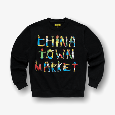 Chinatown Market City Aerobics Crewneck Black