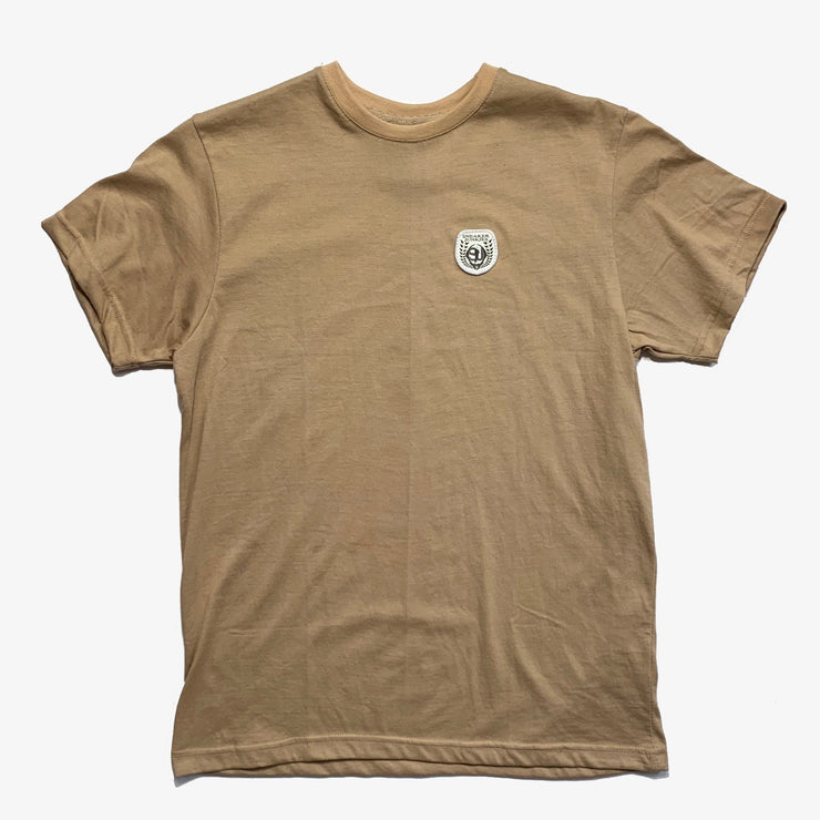 Sneaker Junkies Patch Logo Tee Tan