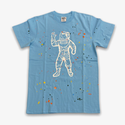 BBC BB Astro Spattered SS T-shirt Knit Sky Blue