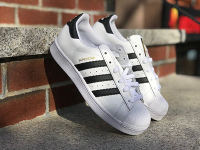Adidas Superstar Grade School White Black C77154