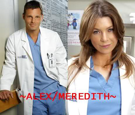 Grey's Anatomy, Meredith and Alex! #OMG