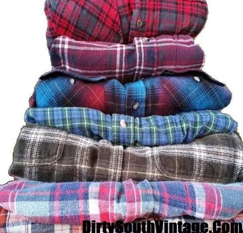FREE SHIPPING FOR CHRISTMAS ORDERS- Rocking Flannel Shirts! #flannels #flannel #mysteryflannel #mystery #freeshipping #vintage #vintageinspired