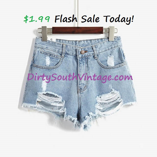 $1.99 Flash Ssale today Only on these high waist shorts!