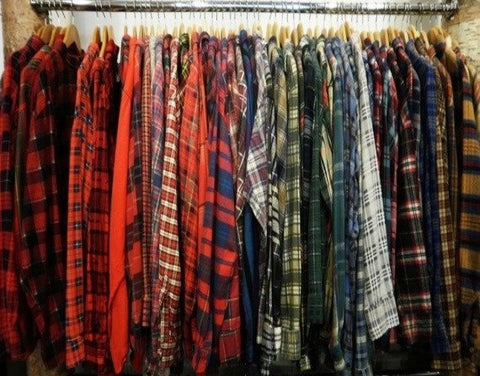 flannel shirts from the 80's
