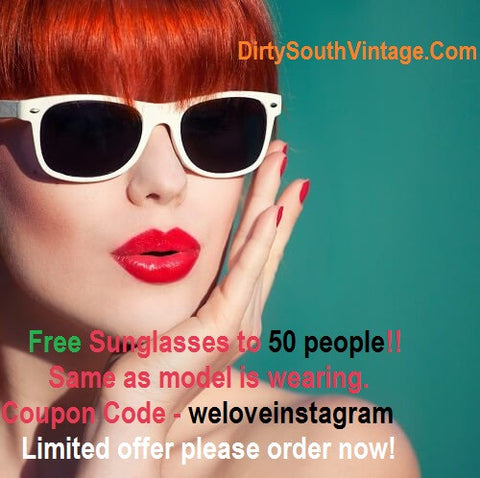 weloveinstagram free sunglasses limited offer.