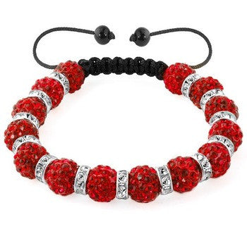 Stylish Color White Black Red Bracelet Bead Fashion Jewelry Arm Bracelet