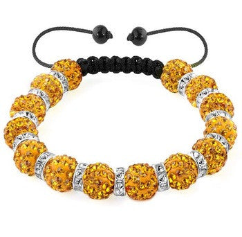 Stylish Color White Black Yellow Bracelet Bead Fashion Jewelry Arm Bracelet