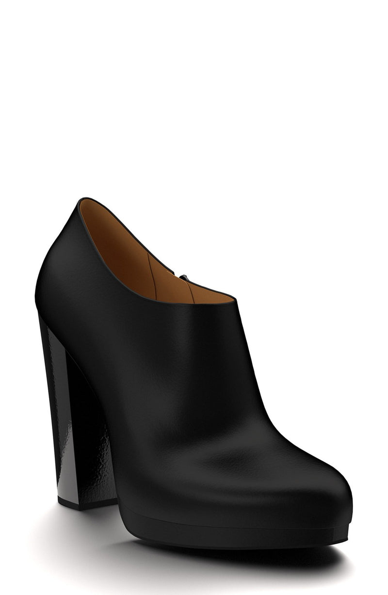 Leather Platform Bootie (Women)