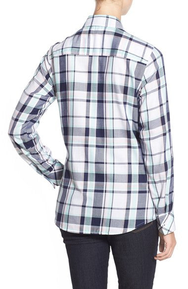 Roll Sleeve Plaid Shirt (Regular & Petite)