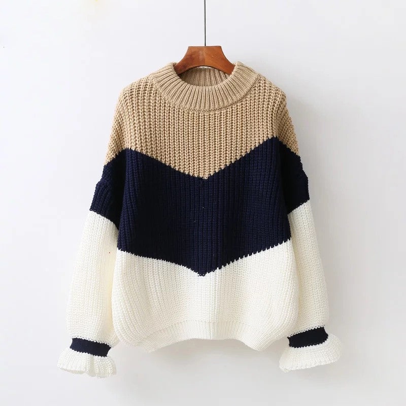S-M, Winter Pullover Sweaters, Fashion Loose Jumpers Knitting,Thick Christmas Sweater