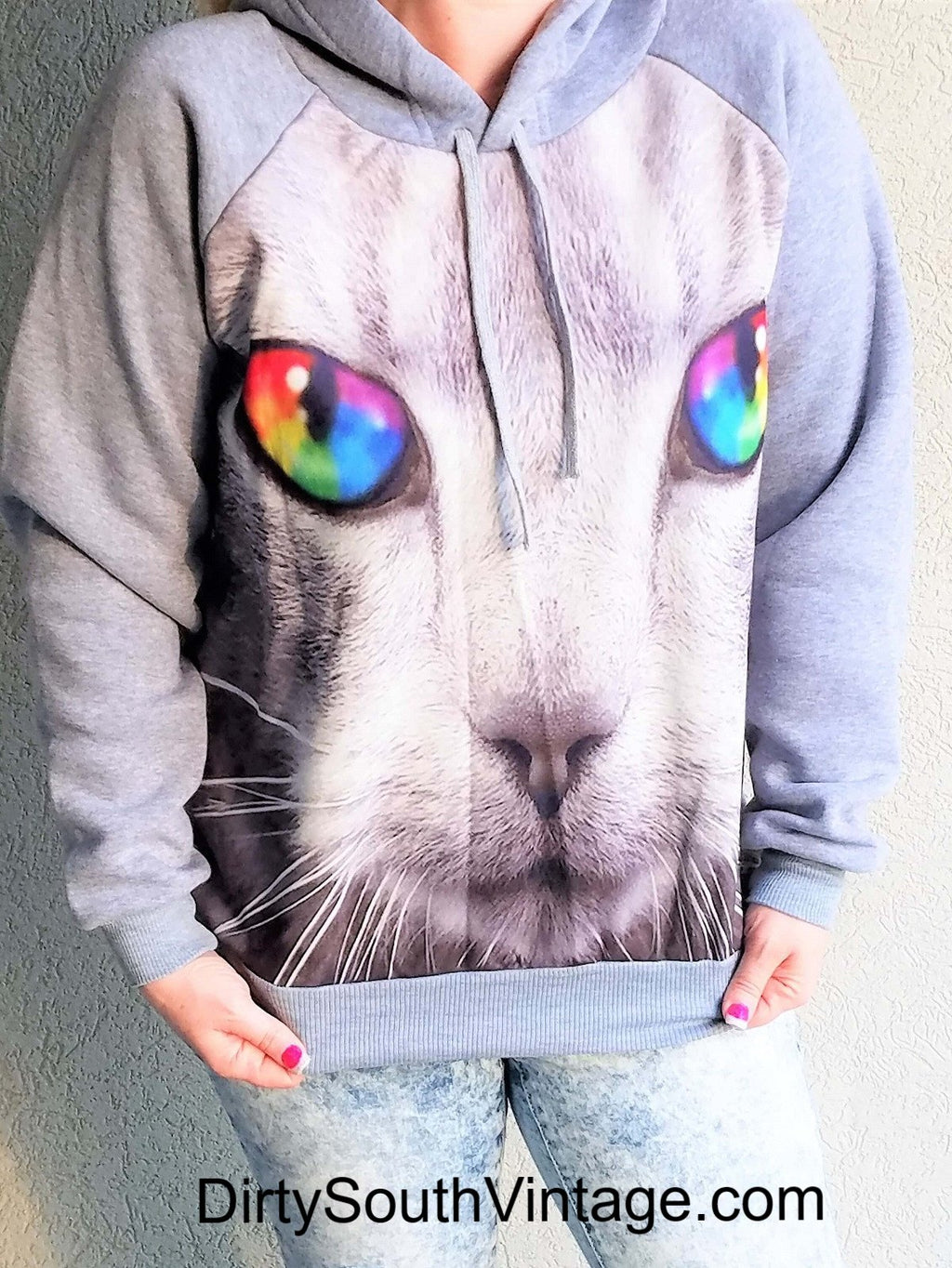 Cool Cat Hipster Sweatshirts, Pullovers, All Sizes