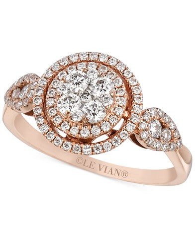 Le Vian Diamond Circle Ring (2/3 ct. t.w.) in 14k Rose Gold
