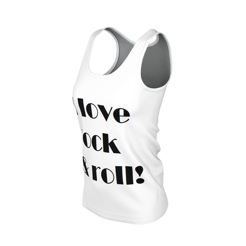 Love rock and roll Tee tank Top.