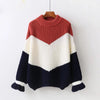 Multicolor Striped Fuzzy Knit Long Sleeve Pullover