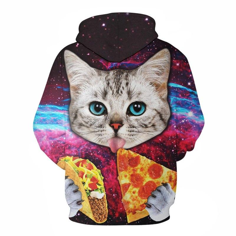 Pizza Cat Hoodies Men Women Sweatshirts 3D Pritned Pullover