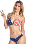 Women's USA Flag 2-Piece Bikini Swimwear