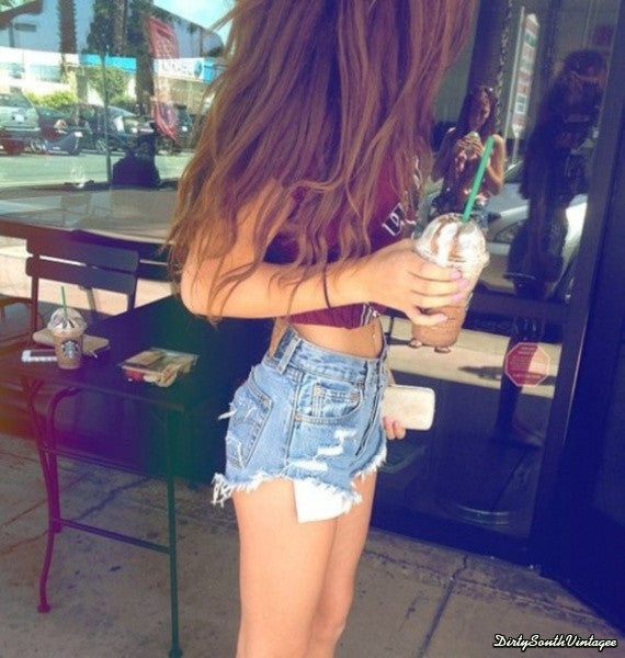 Mystery DISTRESSED High Waisted Shorts / Denim Shorts For Summer: All Sizes & Styles