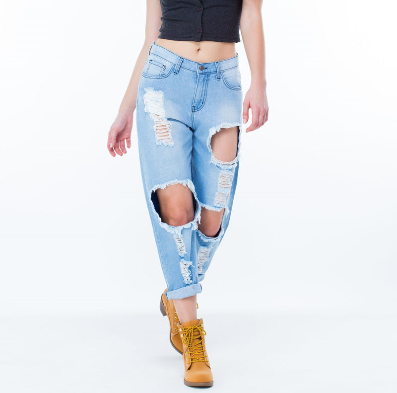 Mystery Vintage High Wasited Distressed Jeans!! All Sizes.