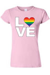 "Juniors LGBT ""Rainbow Flag Gay Love Pride Flag Pride!"" T-shirt"