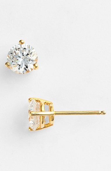 Precious Metal Plated 2ct tw Cubic Zirconia Earrings
