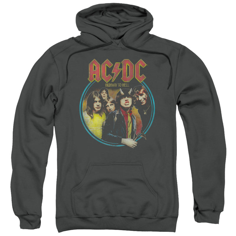 Acdc - Highway To Hell Adult Pull Over Hoodie