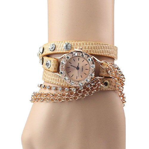 Watch Bracelet Rhinestone Super Cool