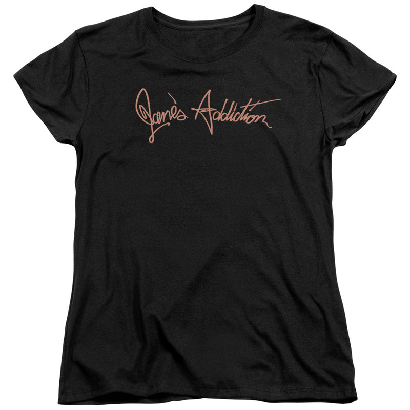 Janes Addiction - Script Logo Short Sleeve Women's Tee