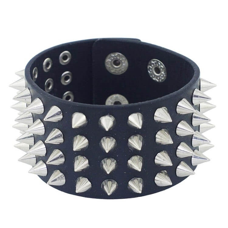 Unisex - Your Arm Band is super cool! Black & Spiked.