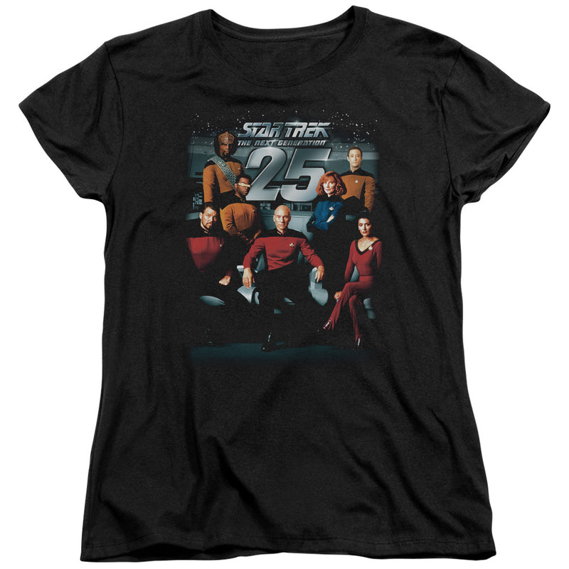 Star Trek - 25 Th Anniversary Crew Short Sleeve Women's Tee