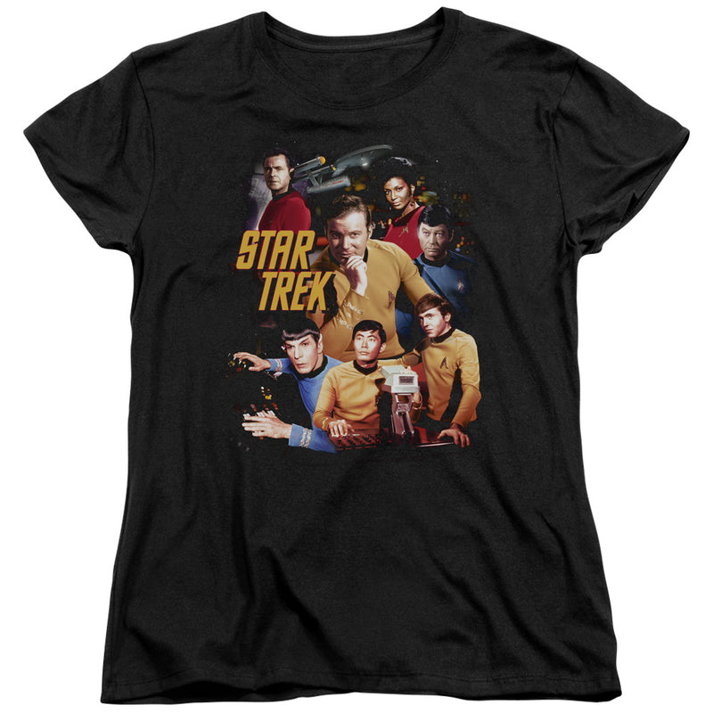 Star Trek - At The Controls Short Sleeve Women's Tee