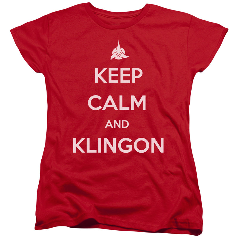 Star Trek - Calm Klingon Short Sleeve Women's Tee