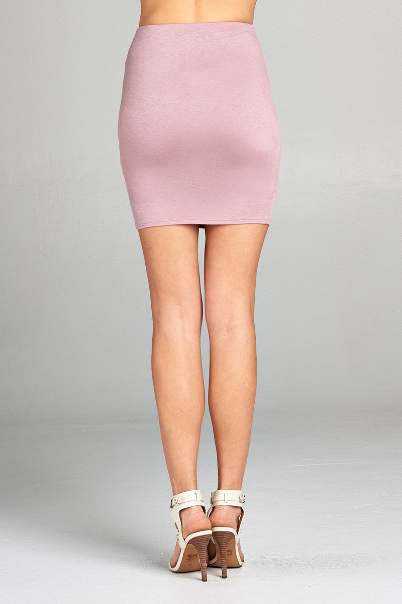 Ladies fashion waist elastic band mini skirt