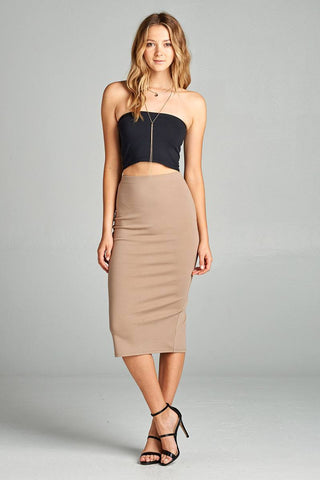 f2d27ed2237 Ladies fashion ponte pencil midi skirt.   22.49. Two-Piece Square Cable  Knit Crop Sweater with Mini Skirt Set