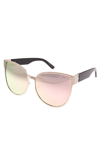 Fashionista Runway Styling Thick Polymer Frame Ladies Sunglasses