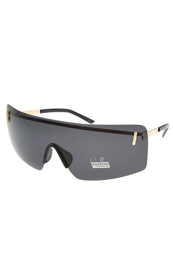 Polarized unilens sunglasses