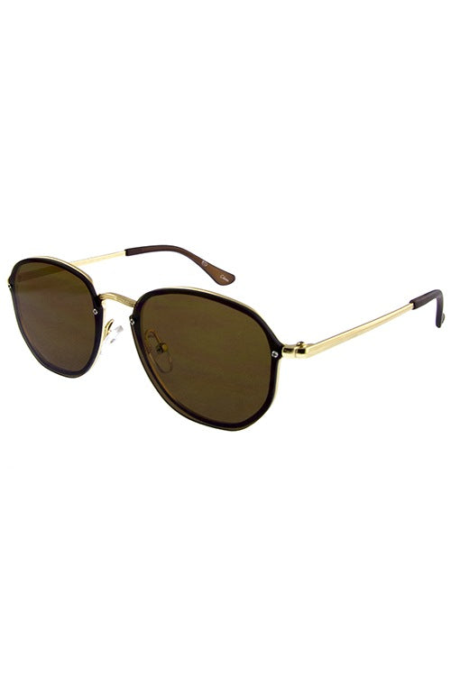 Womens horned hot chic metal sunglasses