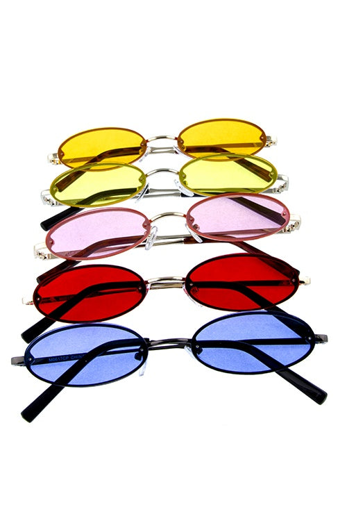 Womens rounded marvelous metal sunglasses