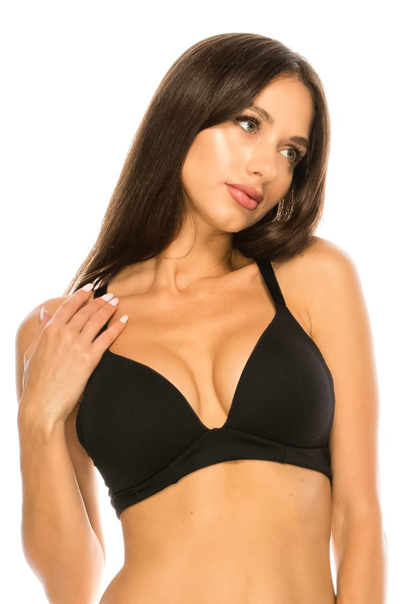 Lightly lined racerback coverage bra
