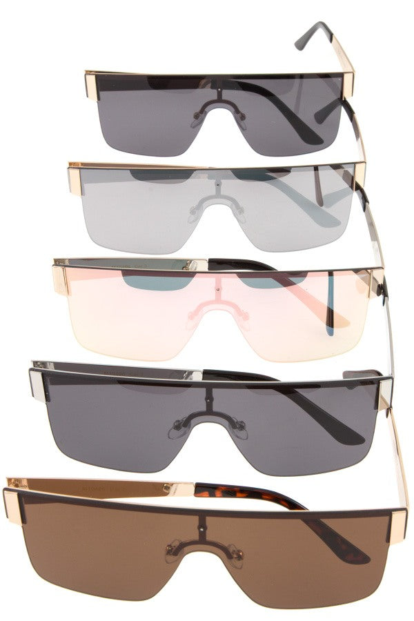 Fashionable uni lens sunglasses