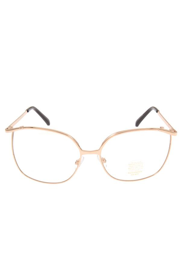 Metal framed clear lens glasses