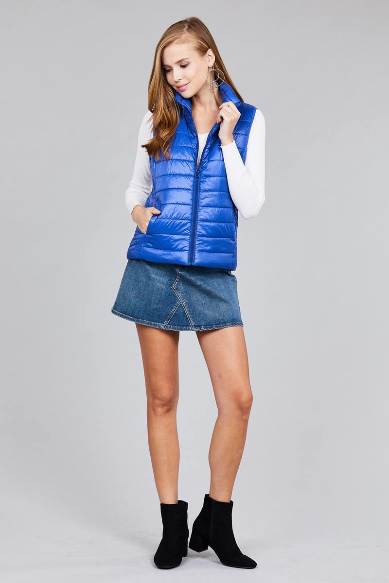 Quilted padding vest, super cute.