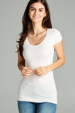 Back Open W/cross Strap Contrast Side Stripe Tue Top